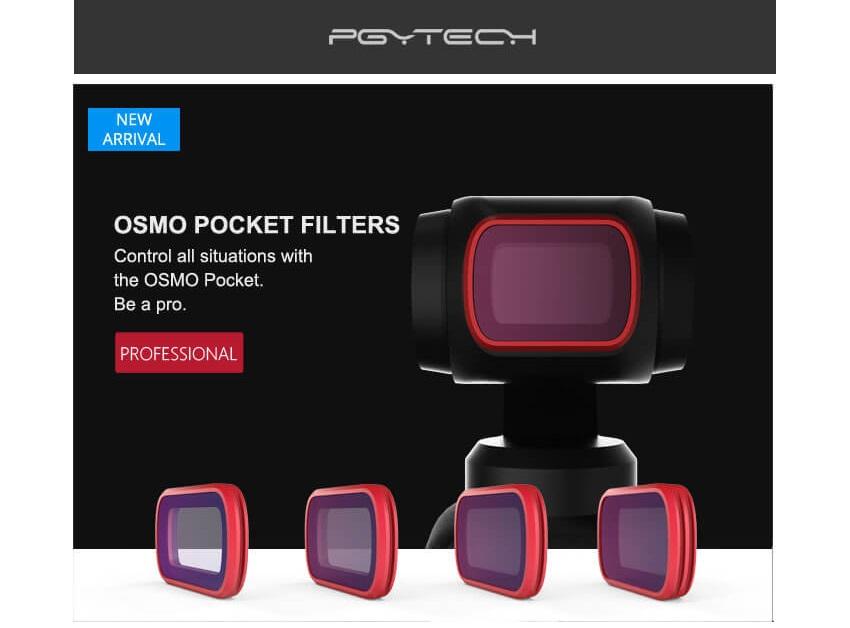 Phụ kiện kính lọc Osmo POcket - Hàng chính hãng PGYtech Filter GND Osmo Pocket PGYtech