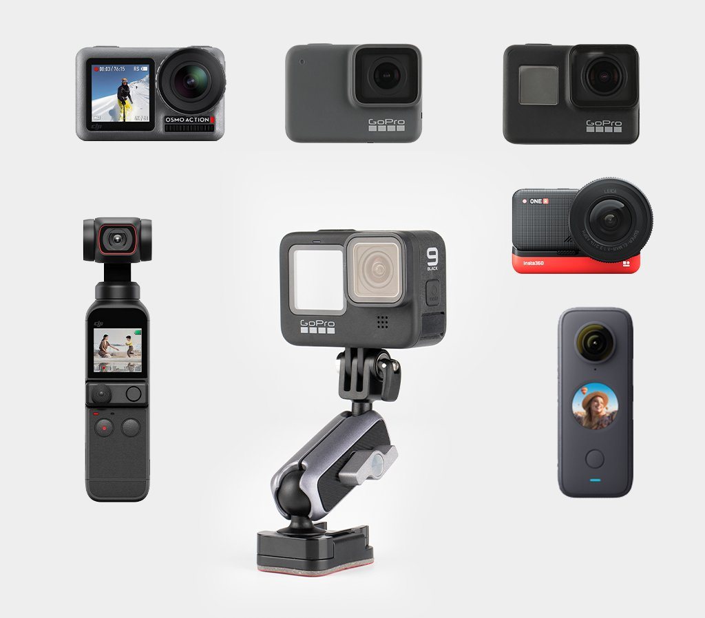 Action Camera Adhesive Mount Campatibility