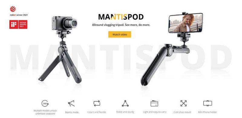 PGYtech-mantispod-pro-chinh-hang-phukienflytech-tripod-chan-may-anh-camera